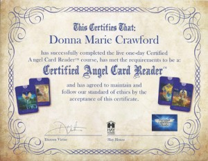 Angel Card Cerificate