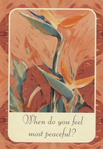 Your card from this week's inspirational card reading.