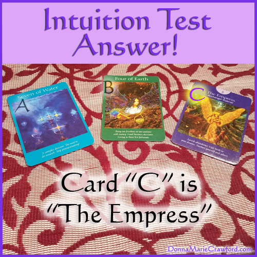 Intuition Test Answer