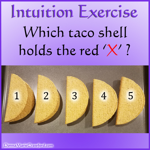 Intuition Exercise – Taco Shells – Intuitive Psychic Medium Donna