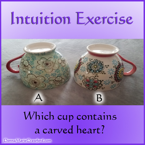 Intuition Exercise – Which cup holds the heart? – Intuitive Psychic
